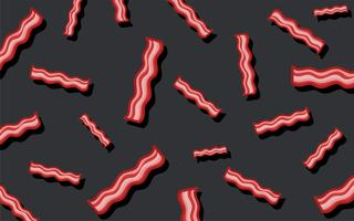 Bacon mönster mat tapeter illustration