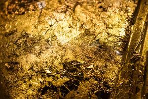 Fundo de padrão texturizado dourado enrugado