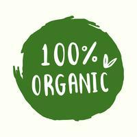 Vettore di tipografia organica in verde