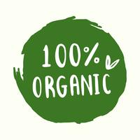 Organic typography vector in green