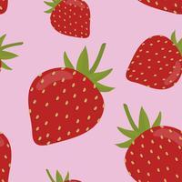 Bunte Hand gezeichnetes Erdbeermuster