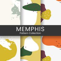 Colorido vector de diseño de patrón de Memphis