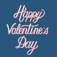 Handschriftliche Art der glücklichen Valentinstag-Typografie