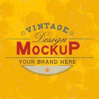 Vintage mockup logo ontwerp vector