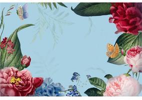 Illustrazione di disegno di carta cornice floreale