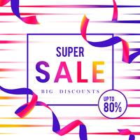 Super vente 80% de réduction signe vecteur