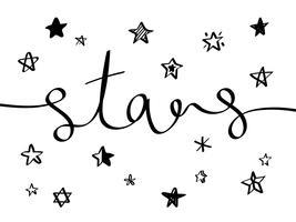 Samling av illustrerade stjärnikoner