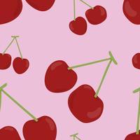 Modello di ciliegio disegnato a mano colorato