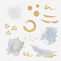 Peindre les éclaboussures d'éléments de conception définie vector