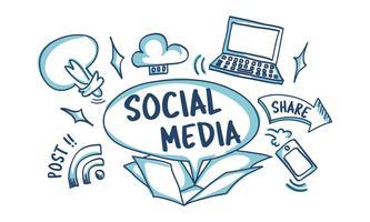 Illustration av sociala medier koncept