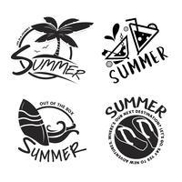 Sommar och semester typografi illustration