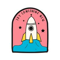Try something new with launch rocket illustration