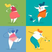 Illustration de personnages de sport