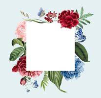 Floral frame invitation card design