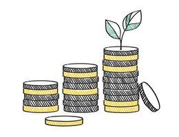 Croissance de l'illustration de concept d'investissement financier
