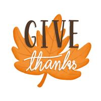 Give thanks Thanksgiving holiday illustration