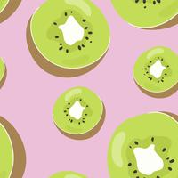 Colorful hand drawn kiwi pattern