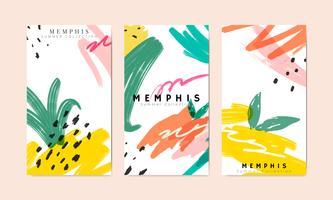Colección de fondo de verano de Memphis