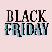 Style manuscrit de la typographie Black Friday