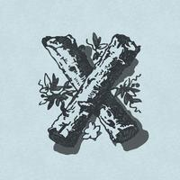 Capital letter X vintage typography style