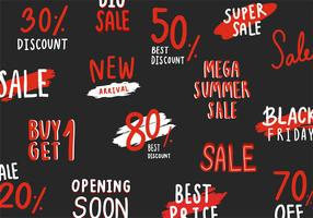 Collection of sale and discount vectors