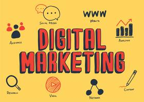 Digitale marketing illustratie