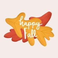Ciao felice autunno autunno illustrazione