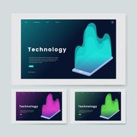 Technologie en IT-informatie grafische website