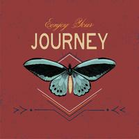 Enjoy your journey logo design vector