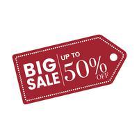 50 percent off sale badge vector