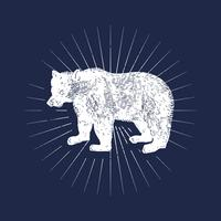 Grizzly bear logo illustration