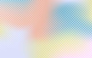 Colorful gradient halftone
