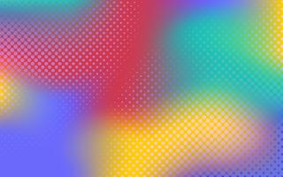 Multicolor gradient halftone background vector
