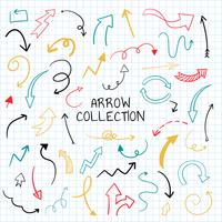 Hand drawn arrow illustration collection vector