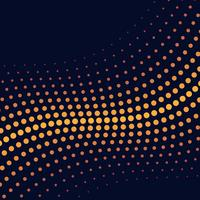 Yellow wave halftone background vector