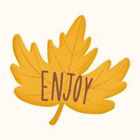Enjoy autumn and fall illustration