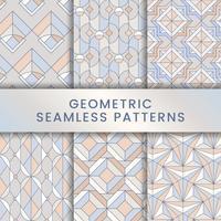 Ensemble de motifs géométriques sans soudure pastel coloré