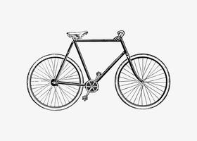 Bicycle in vintage style