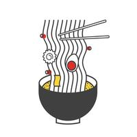 Illustration of ramen noodle