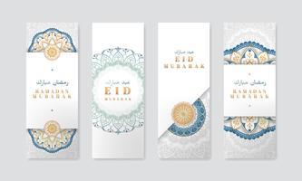 Ensemble de bannières White Eid Mubarak