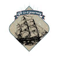 Het leven is een illustratie van een reis