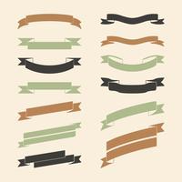 Conjunto de vetores de banner colorido