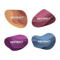 Insignia abstracta diseño conjunto de vectores