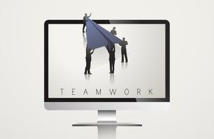Illustration of business teamwork