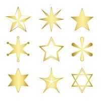 Set van gemengde sterren vector