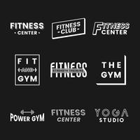 Set fitness club logo-vectoren