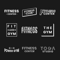 Sats av fitness club logo vektorer