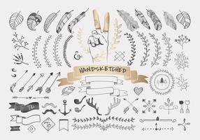 Conception de voyage dessiné à la main