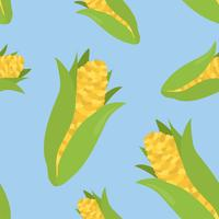 Colorful hand drawn corn pattern