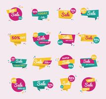 Sale badge vector design set